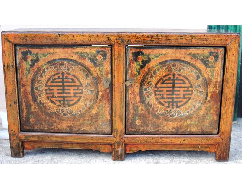 Credenza con simbolo di lunga vita mongolia antiquariato - Mobili occasioni ...